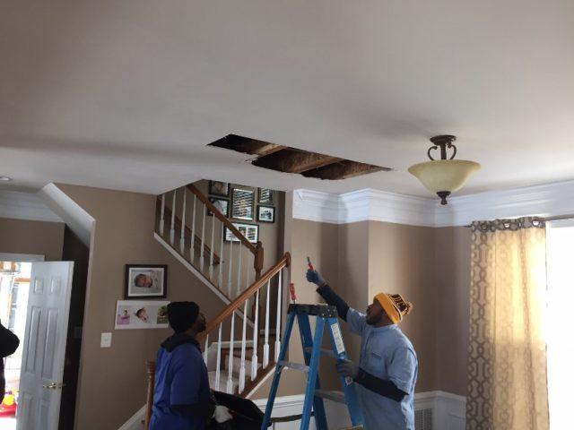 Ceiling Water Damage insurance claim